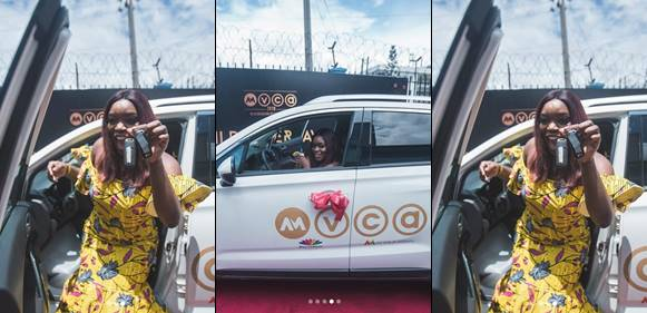 Bisola Receives Her 'Trail Blazing' SUV from AMVCA