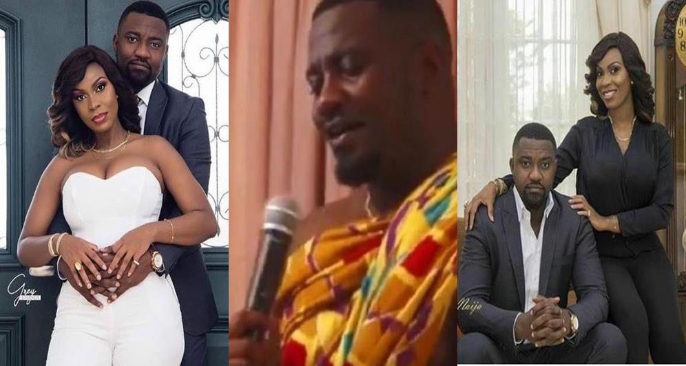 Here is a cute video of John Dumelo singing for his wife Mawunya at their Wedding (Watch)