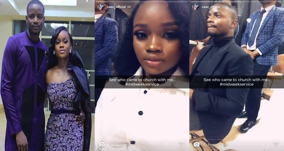 Cee-c finally succeeds in dragging Leo to church (Video)