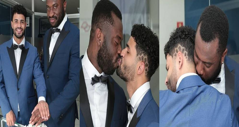 Photos from a Nigerian man, Mike's wedding to his Brazilian fiancé, Deck