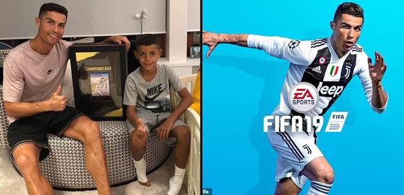 Cristiano Ronaldo covers the world's first copy of FIFA'19
