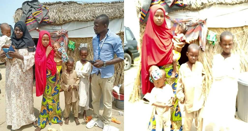 Sad story of a 12-year-old orphan girl left to care for 4 children after the death of her elder sister in Borno