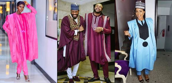Celebrities Step Out in Various Agbada Styles to AY Movie Premiere