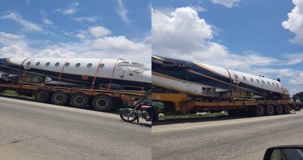Plane imported into Nigeria through the Port harcourt seaport (Video)