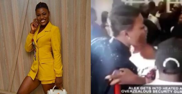 Alex in a heated argument with a security guard at AY's movie premiere (Video)