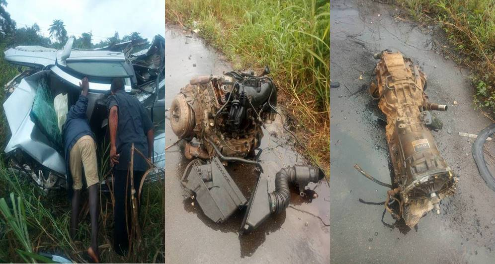 Catholic priest, one other unhurt after a fatal accident in Bayelsa State (Photos)