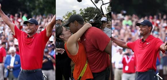 Tiger Woods Clinches His First Tournament Win After Five Years