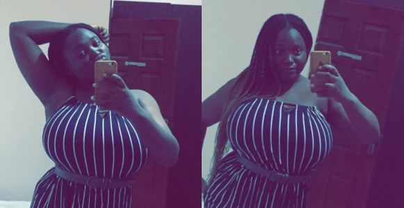 Busty Nigerian lady leaves men drooling over the size of her massive boobs (Photos)