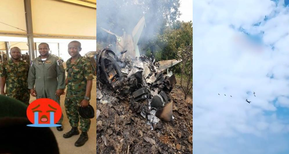 Nigeria Airforce Jet Crash: One pilot dead, as video shows the moment before the crash