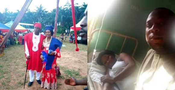 Nigerian man accused of beating pregnant wife to death after 19 days of marriage, speaks