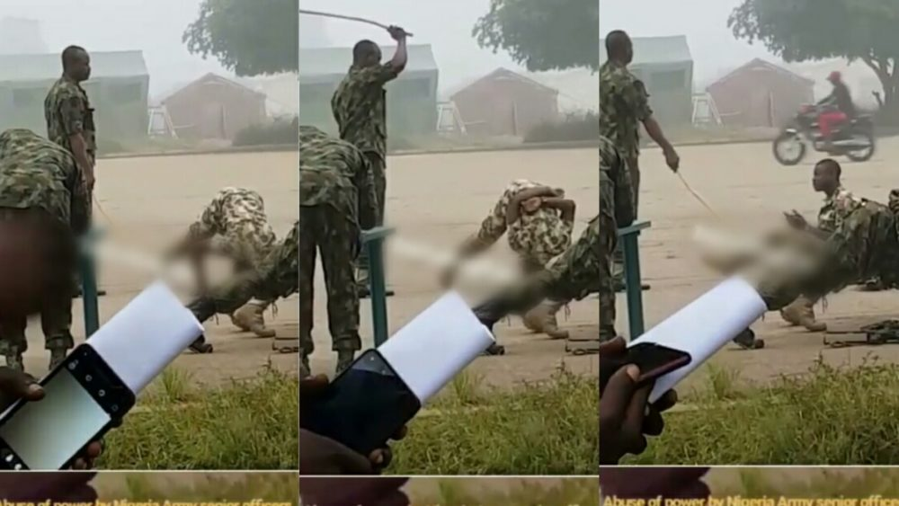 Soldiers punished for allegedly demanding for their allowance in Kaduna State (Video)