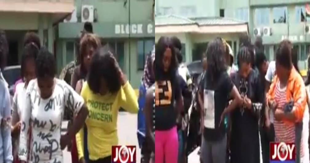 Photos of 72 Nigerian sex workers to deported from Ghana (Video)