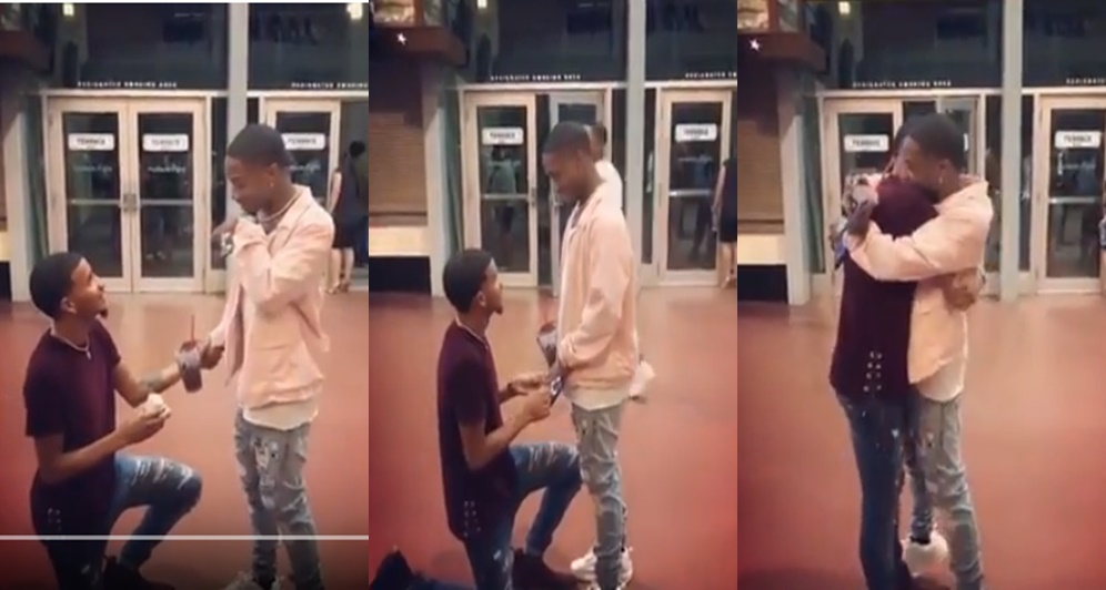 Gay Man Proposes To His Girlfriend & He Said Yes (Video)