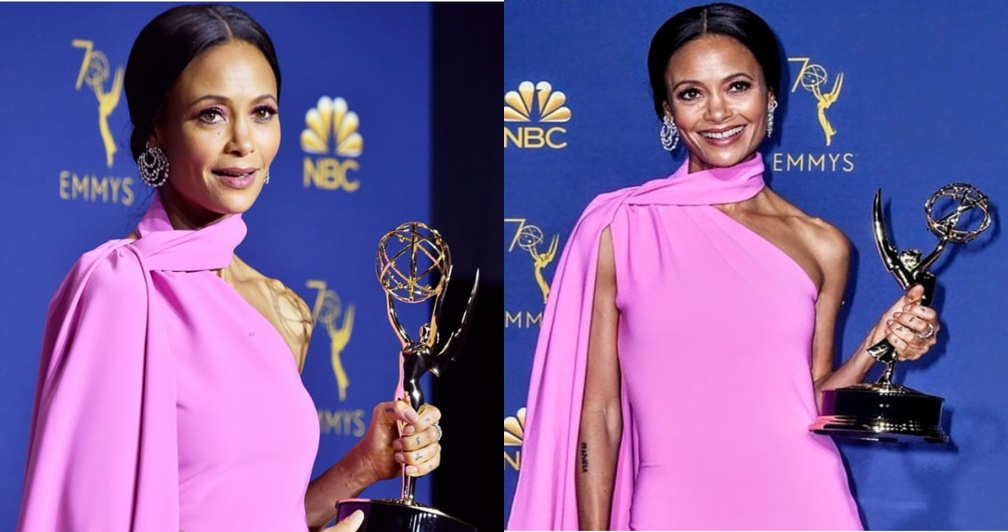 I don't believe in God but I'm going to thank her tonight – Thandie Newton says as she receives an Emmy Award