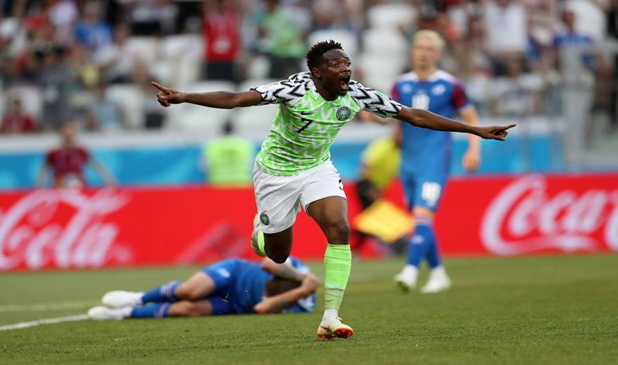 Ahmed Musa's goal against Iceland ranked eight best goal at Russia 2018