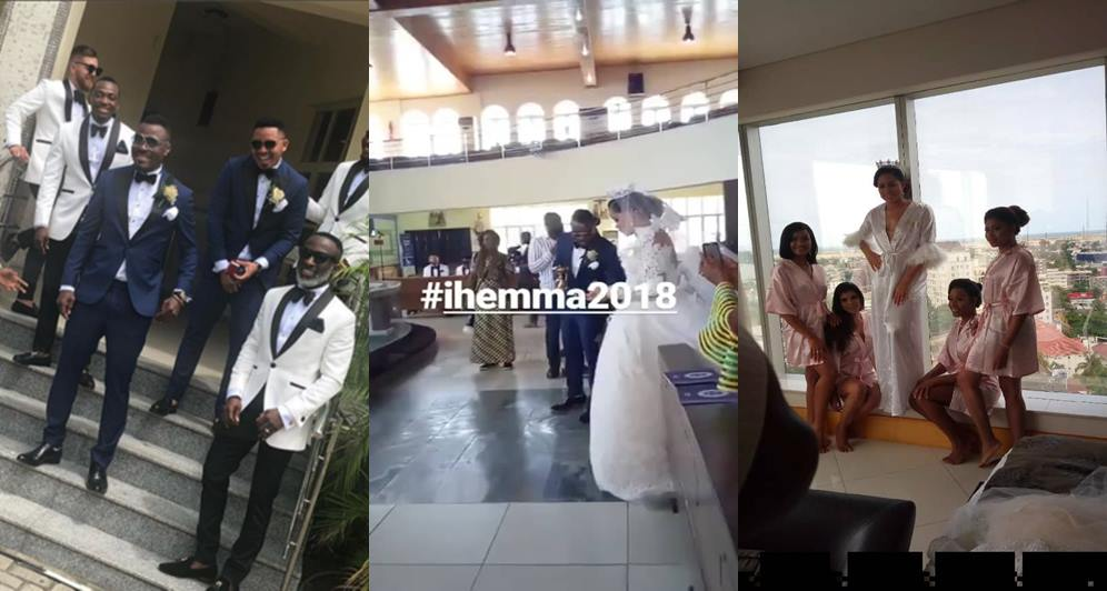 First photos from ex-Beauty queen, Iheoma Nnadi's wedding to Super Eagles player Emmanuel Emenike