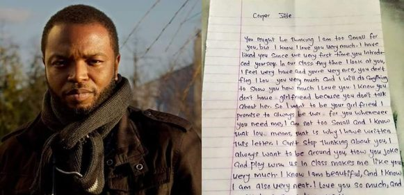 Young girl sends love letter to her teacher who is a corps member