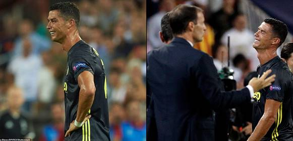 Cristiano Ronaldo breaks down in tears after dismissal from the pitch