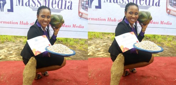 Ezinne Okeke Gets Yam, Beans And Pawpaw As Best Creative Advert Student Of COOU