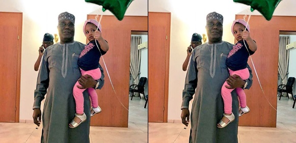 Atiku Welcomed By Granddaughter After Clinching Presidential Ticket
