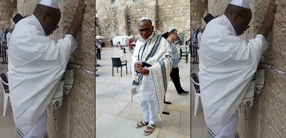 IPOB leader, Nnamdi Kanu Papped in Jerusalem (photos/video)
