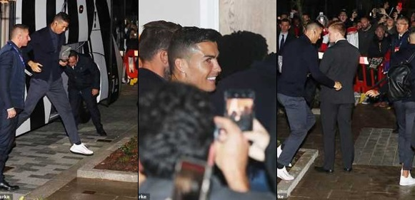 Cristiano Ronaldo Mobbed By Fans After UCL Win