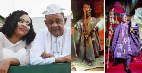Alaafin of Oyo's Queen calls him her ancestor, as she shares his before and after pictures