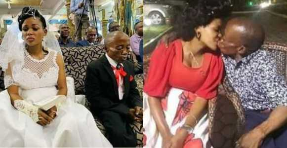 Bride Who Looked Sad On Wedding Day, Shares Passionate Kiss With Hubby (Photos)