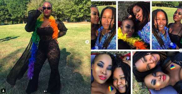 Charly Boy's daughter Dewy and her partner celebrate their first Pride as a couple (Photos)