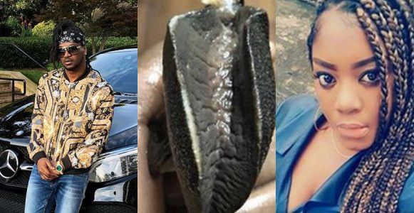 Paul Okoye draws a striking resemblance between a processed snail and a troll