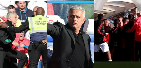 Mourinho goes crazy as Chelsea coach celebrates Barkley goal in his face