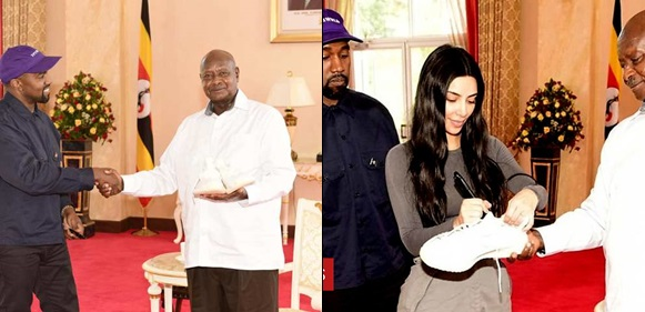 Kanye West And Kim Gift Ugandan President A Pair Of Sneakers