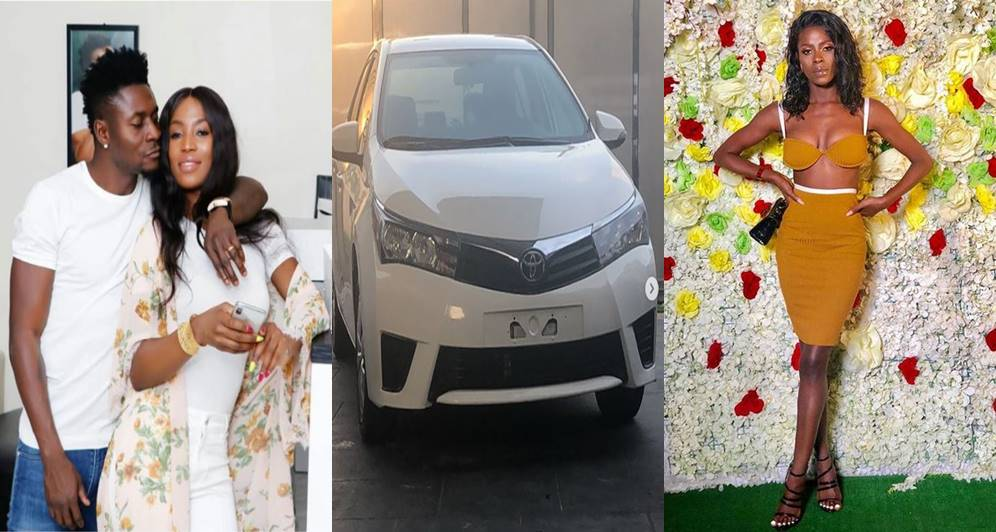Obafemi Martins' wife reveals how she feels about the car he bought for Khloe