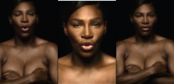 Serena Williams Goes Topless In Heroic Breast Cancer Video
