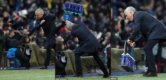 See the Jose Mourinho's crazy celebration everyone is talking about after Fellaini's dramatic injury-time goal for Man.U