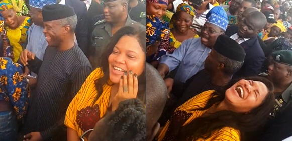 Toyin Abraham Slammed By Fans After Being Spotted With Osinbajo For Tradermoni