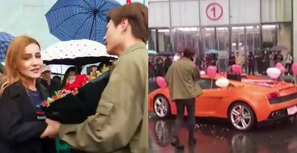 Rich Man Proposes To Girlfriend With A Lamborghini But She Turns Him Down (Photos)