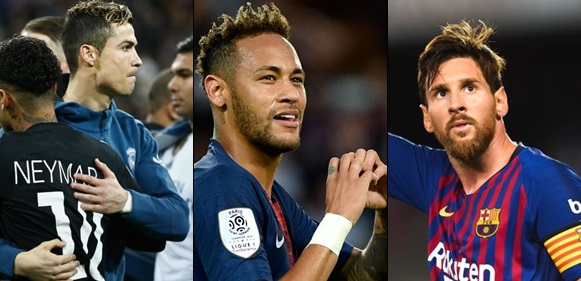 'Cristiano Ronaldo Is A Monster' – Neymar Says As He Refers to Messi As His Idol.