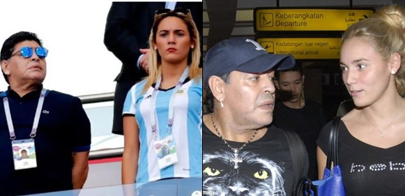 Diego Maradona's young girlfriend throws him out of the house he bought for her  Argentine football legend, Diego Maradona, has been kicked out of the house he sh