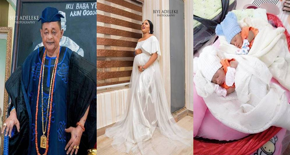 Alaafin of Oyo welcomes third set of twins in 8 months (Photos)