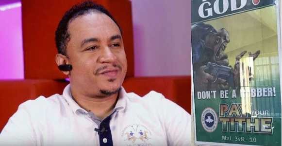 Daddy Freeze criticizes RCCG for a banner encouraging members to pay tithe