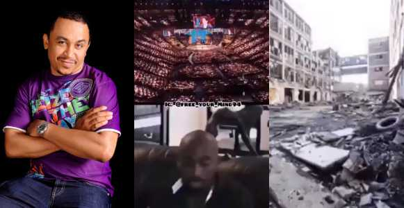 Daddy freeze slams Nigerian with 2Pac's question asking 'if God needs 100,000 seater church buildings or shinny gold ceilings to talk to them' (Video)