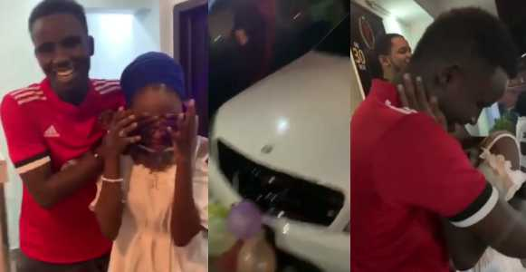 Nigerians react to the news of 19-year-old boy who bought a Benz and iphone xMax for his 16-year-old girlfriend as birthday gift