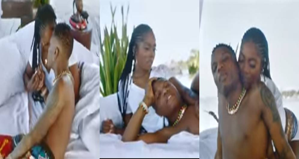 """Wizkid And Tiwa Savage Get Steamy And Romantic in """"Fever"""" video"""