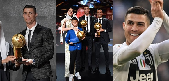 Cristiano Ronaldo named Player of the Year at the Globe Soccer Awards ahead of Griezmann and Mbappe
