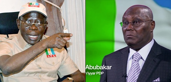 """Atiku said he will sell Nigeria. He has said that he will sell the NNPC if elected president.""– Adams Oshiomhole tells Nigerians"