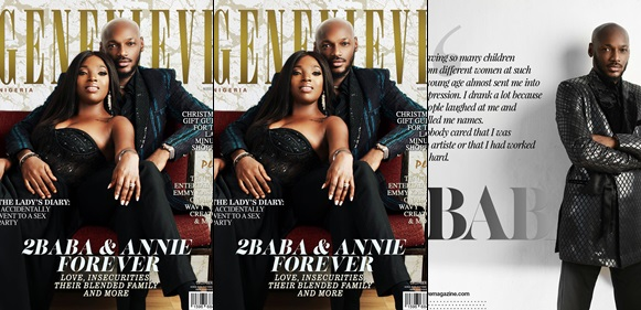 2Baba & Annie talk Love, Insecurities & their Blended Family in Genevieve Magazine's December Issue