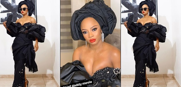 'Those boobs are crying for help' - Nigerians react to Toke Makinwa's revealing outfit to the premiere of 'Chief Daddy'