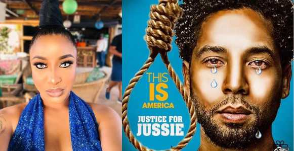 Actress Tonto Dikeh reacts to homophobic attack on Empire actor, Jussie Smollett