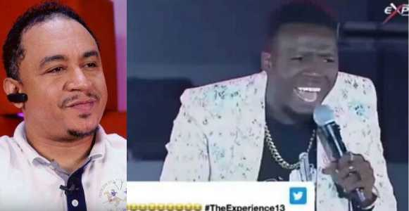 #TheExperience13: Comedian Akpororo slams Daddy Freeze during performance calls him a wall gecko (Video)